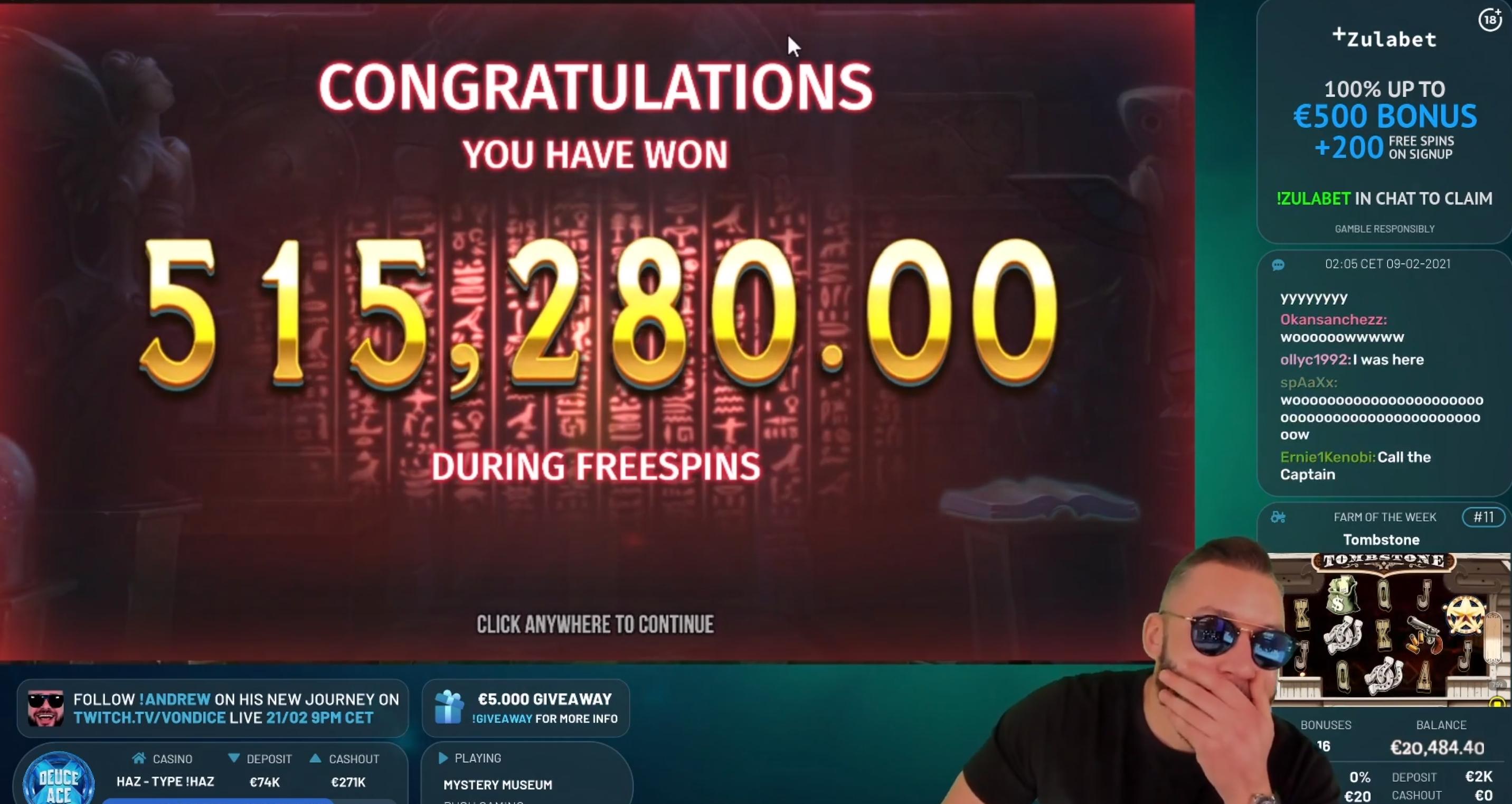 deuceace 500k win